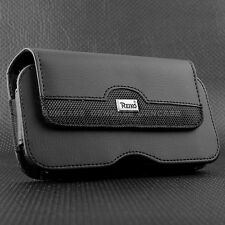 Black Leather Case Pouch for Apple iPhone 6 PLUS 6S PLUS with Holster Belt Clip