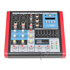 4 Channels Audio Mixer Console Mixing DJ Mic Line In Sound Desk EQ Equalizer MP3
