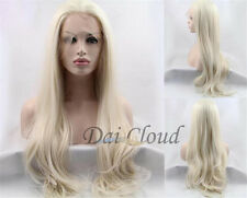 Fashion Women Blonde Ombre Long Curly Lace Front Synthetic Cosplay Hair Full Wig