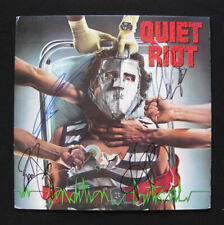 Quiet Riot Signed Condition Critical Lp Frankie Banali Kevin DuBrow Cavazo Sarzo