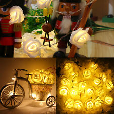 2M 20LED Rose Flower Fairy String Lights Battery operated Christmas Decor