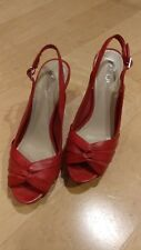 ALDO Shoes  Red Open Toe Pumps Size 7 (37) Heels Stilettos Women