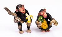 PETRI BRONZEN WIENER BERMANN VIENNA COLD PAINTED BRONZE - MONKEY EATING FRUIT