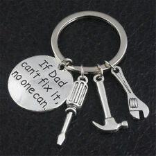 Father Papa Hand Tools Necklace Keyring  If Dad Can't Fix It No One Can Keychain