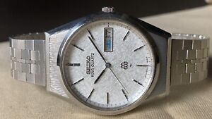 Vintage SEIKO Quartz Watch/ KING TWIN QUARTZ 9223-8000 SS 1981