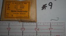 200 Mustad #9 fly tying hooks limerick kroker large up eye tinned Norway 7105