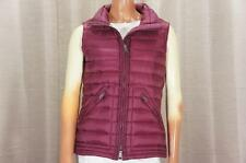 BURBERRY BRIT STAND COLLAR DOWN QUILTED VEST BURGUNDY  SP $495