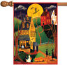 Toland Halloween Night 28 x 40 Spooky Americana Haunted Witch House Flag