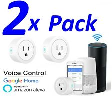 2X Smart Mini WiFi Plug Outlet Switch works with Amazon Alexa Google Home IFTTT