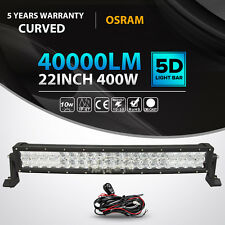 "5D 400W 22inch OSRAM Curved LED Light Bar Combo Offroad 4X4WD Jeep Ford 23"" 24"""