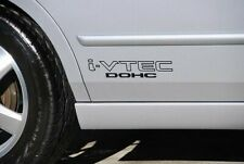 "i-VTEC DOHC (2 PCK) 12"" BLACK emblem Vinyl Sticker Honda Civic Decal Euro Drift"