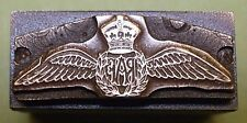 """ROYAL AIR FORCE WINGS"" PRINTING BLOCK."