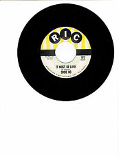 Eddie Bo R&B/SOUL 45(RIC 977)It Must Be Love/What A Fool I've Been NM