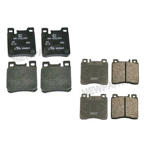 For Mercedes 300SD W140 500SEC 400SE Brake Pad Set Front & Rear Ate 004420932041