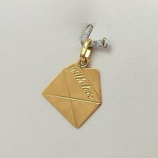 18K YELLOW GOLD WITH LOVE LETTER ENVELOPE CHARM PENDANT 0.9gr