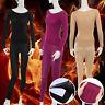 Womens Ladies Winter Warm Soft Shaping Thermal Tops+Long Pants Underwear Set