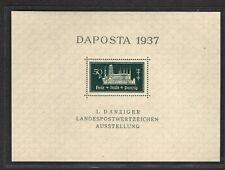 Danzig, Daposta 1937 Mi.-Nr. Block 1 b  PF I postfrisch, sign. GruberBPP.