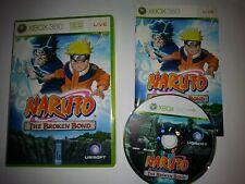 NARUTO THE BROKEN BOND ORIGINAL XBOX 360 GAME COMPLETE