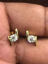 0,74 Cts Runde Brilliant Cut Diamanten Ohrstecker In Solides Hallmark 18K Gold