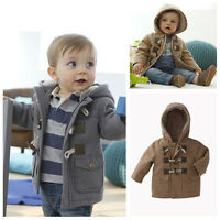 Infant Toddler Baby Boy Winter Coat Kids Clothes Jackets Outerwear Snowsuit Hat