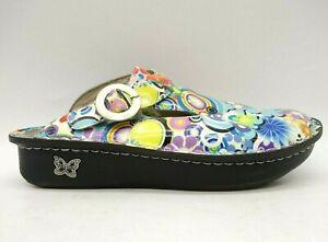 Alegria Multi-Color Leather Floral Slip Resistant Shoes Women's 40 / 9.5 - 10