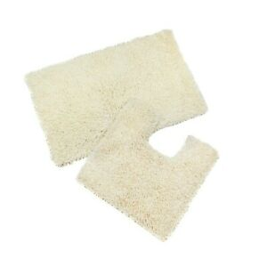 100% Cotton 2 Piece Bathroom Mat & Pedestal Mat Set / Bath Rug