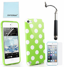 TPU Gel Polka Dot Case Cover For Apple iPod Touch 7th 6th 5th Generation