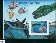 Sao Tome e Principe - ERROR = IMPERF SHEET: SHELLS, FISH, OCEAN, MARINE LIFE