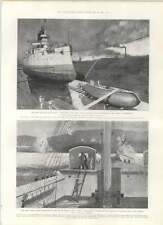 1901 New Russian Battleship Retvizan United States Submarine Brooklyn