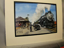 Southern Pacific Salinas  Ca by artist Color Illustrated Railroad Archives hg