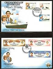 St.Vincent Princess Diana Royal Wedding First Day Covers