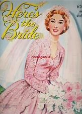 VINTAGE UNCUT 1954 HERE'S THE BRIDE PAPER DOLLS~#1 REPRODUCTION~NOSTALGIC