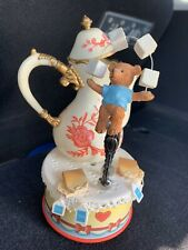 """Enesco Moving Music Box Mice Teapot and Sugar """"Tea For Two� Vintage"""