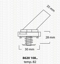 Thermostat réfrigérant-TRISCAN 8620 10882