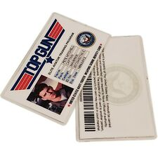 TOP GUN Pete Mitchell Maverick Navy Air Force ID Card Badge Name Tag Prop TG-1
