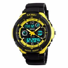 Men's Waterproof Sport Army Alarm Date Analog Digital Black Wrist Watch Military