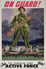 RECRUITING POSTER CANADIAN ARMY ACTIVE FORCE CANADA NEW A4 PRINT