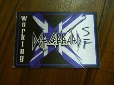 Def Leppard Working X Tour 2002 2003 Backstage Concert Pass