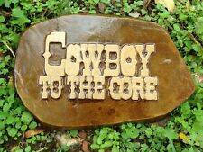 Cowboy to the Core Stone, Stepping Stone, Concrete Mold, plastic mold, cement