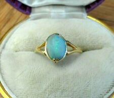 ANTIQUE JEWELLERY LATE VICTORIAN 18CT GOLD OPAL DOUBLET RING FULL UK HALLMARKS