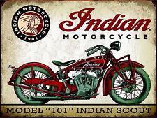Indian Motorcycle, Retro metal Sign/Plaque, Gift, Garage