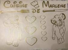 """Plaquette Stickers roi lion """" Cookeo """"  couleur au choix"""