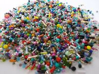 2kg SUPER MIX Glass Seed & Bugle Mixed Assorted Sizes Colors BULK FREE EXPRESS