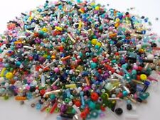 800g SUPER MIX Glass Seed & Bugle Mixed Assorted Sizes Colors BULK EXPRESS POST