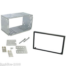 UNIVERSAL 182mm X 103 mm DOUBLE DIN CAGE KIT HEADUNIT RADIO FASCIA TRIM XTRONS