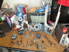 1986 Honda XR200 RH Crankcase Swingarm Clutch Brake Hub Shift Forks Parts Lot