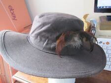 Super Looking Brown Wax Cotton Gents Hat 58cm by Anthony Graham - Trekking / Ang