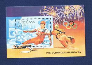 LAOS - Scott 1226 - FVF MNH S/S - Olympics, Baseball  - 1995