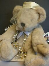 """Vintage Vermont 16"""" Teddy Bear Anniversary Fully Jointed Brown Eye 1992 with tag"""