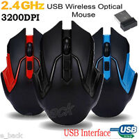2.4GHz 6D 3200DPI USB Wireless Optical Gaming Mouse Mice For Laptop/Desktop A